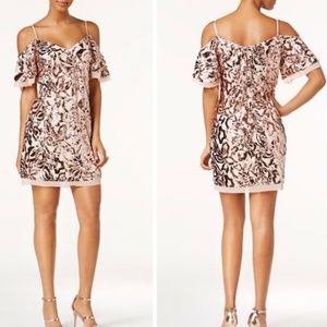 NWT Vince Camuto Rose Gold Sequin Cocktail Dress 6